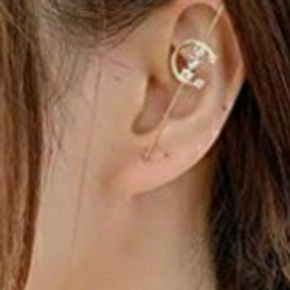 Hypoallergenic Gold crawler wrap earring